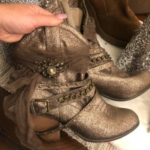 Sparkly ankle booties